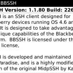 bbSSH - Version