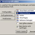 Firefox - Benutzerprofile