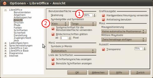 Optionen-LibreOffice-Ansicht