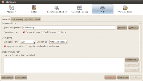Netbeans-Optionen-PHP-Xdebug